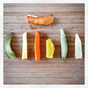 Presentación de los alimentos blw