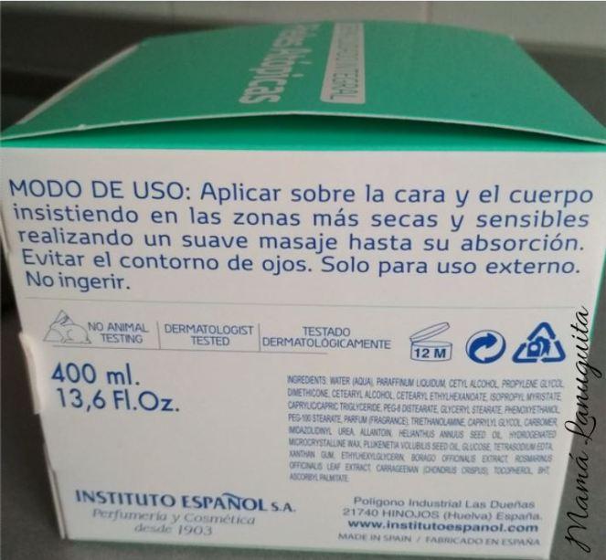 piel atopica crema cuidado integral instituto español ingredientes