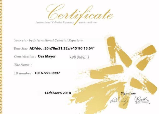 etoilez-moi international celestial repertory osa mayor bautiza estrella mi estrella regala una estrella certificado