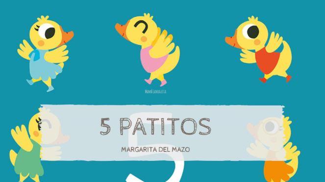 5 patitos cinco patitos reseña libro margarita del mazo cecilia moreno libros infantiles lectura 1 a 3 años libro para contar aprender numeros